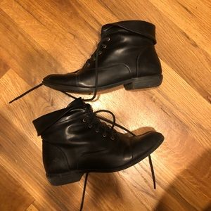 Pleather Cargo Ankle Boots
